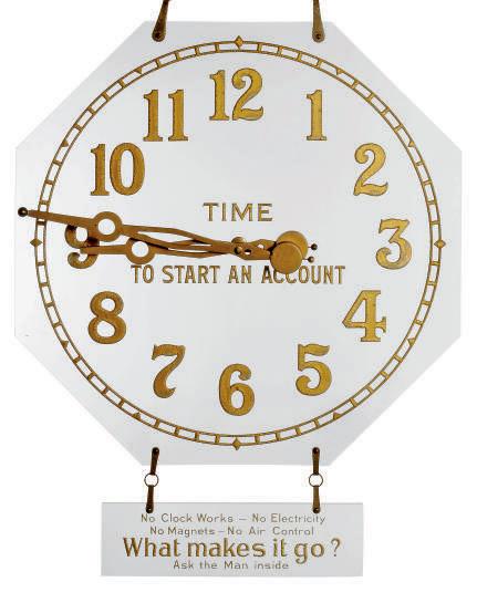A SWIIS PLATE GLASS MYSTERY TIMEPIECE DISPLAY CLOCK