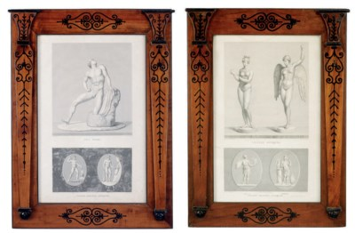 A PAIR OF FRENCH ENGRAVINGS OF
