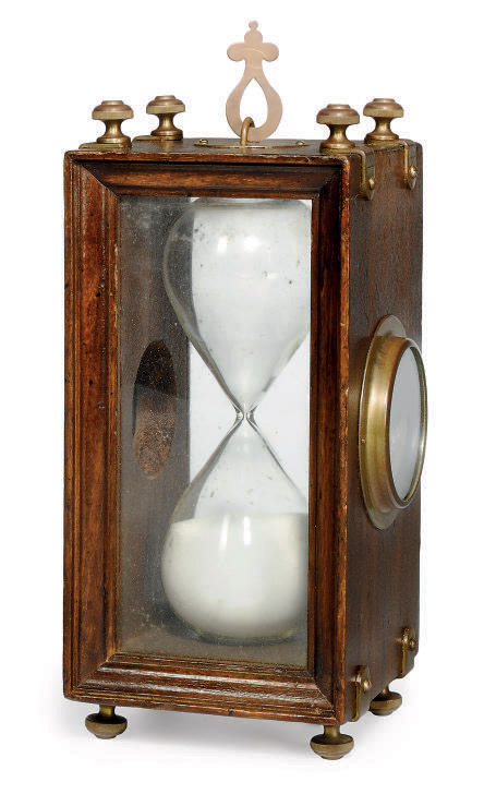 A TWO-BULB SAND-GLASS