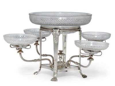 AN ELECTROPLATED EPERGNE