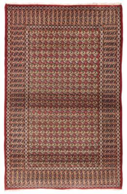An unusual fine Kashan rug