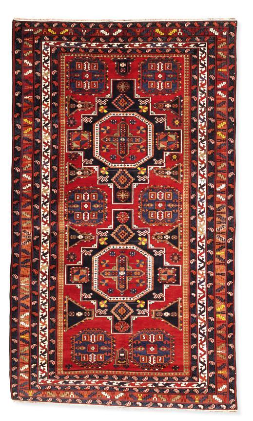 An unusual Shirvan large rug