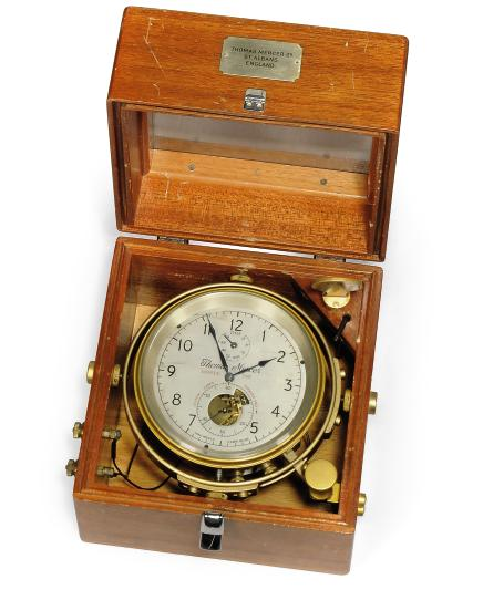 A MAHOGANY TWO DAY SIDERIAL TIME MARINE CHRONOMETER