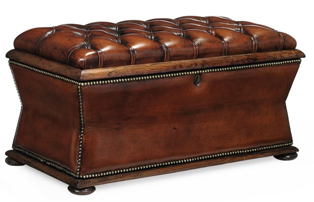 A LATE VICTORIAN ROSEWOOD OTTO