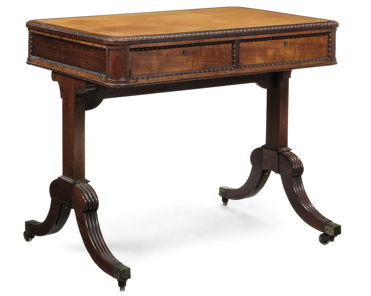A GEORGE IV MAHOGANY WRITING T