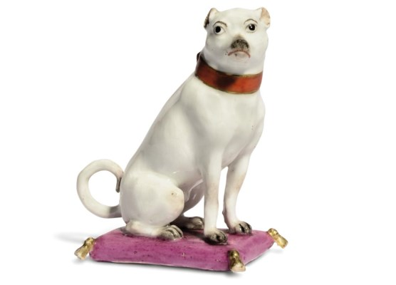 A MEISSEN MODEL OF A SEATED HO
