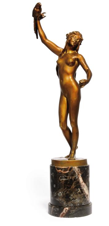 A COLD-PAINTED BRONZE FIGURE C