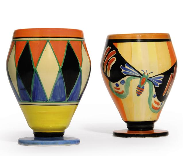 A Clarice Cliff Butterfly Vase Shape 363 20th Century Insects