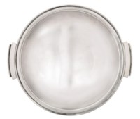 A GEORG JENSEN SILVER DISH DESIGNED BY HARALD NIELSEN