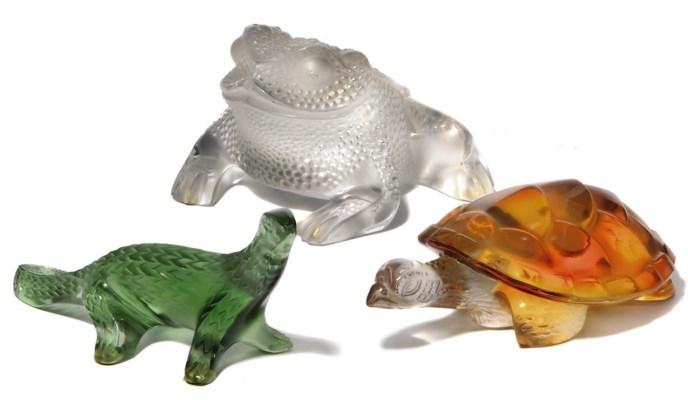 Three Lalique Reptiles