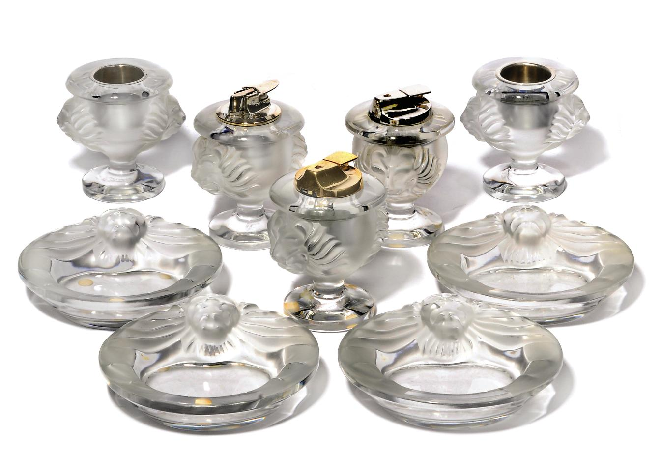 Nine Lalique Items