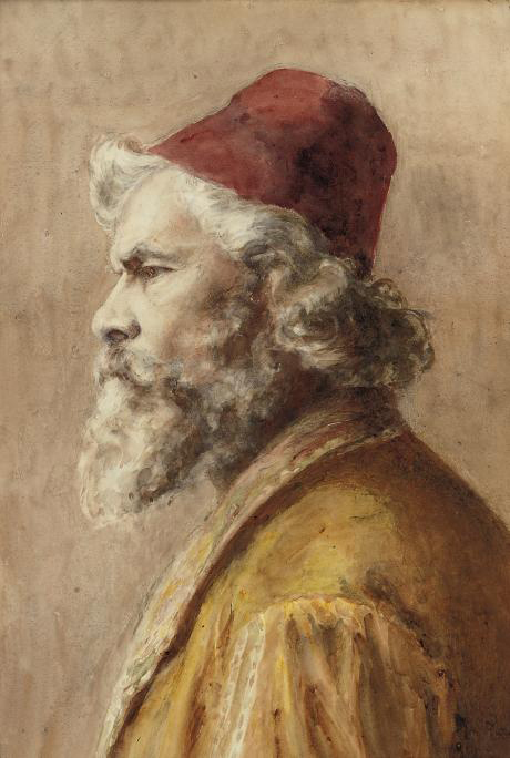 A bearded man in a fez