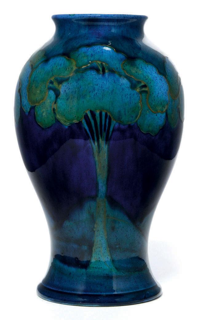 A Moorcroft Moonlit Blue Vase Circa 1925 20th Century Landscape