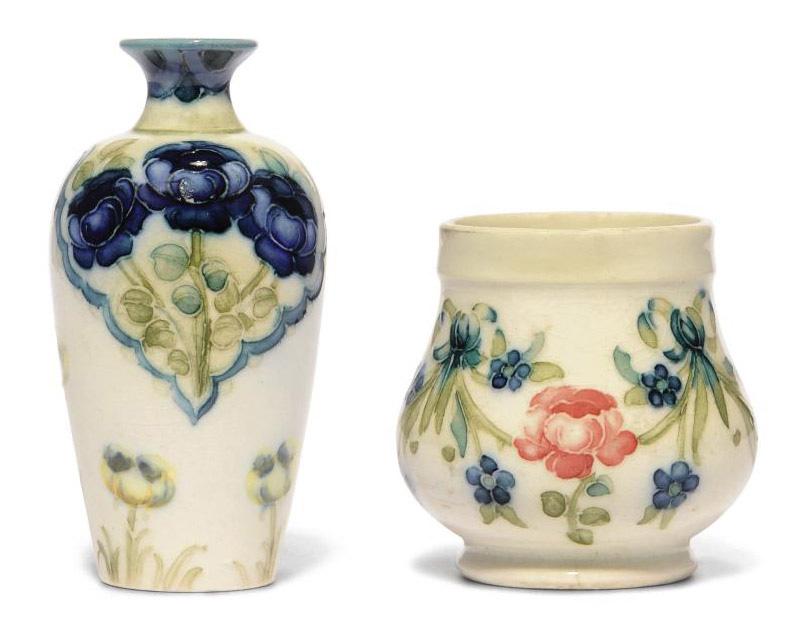 A Moorcroft Macintyre Rose And Tulip Vase 20th Century Flowers