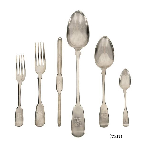 A WILLIAM IV SILVER FIDDLE PATTERN CANTEEN