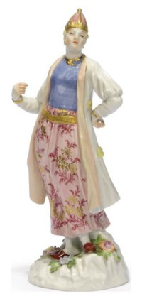 A MEISSEN FIGURE OF A TURKISH LADY