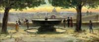 The fountain at the Villa Borghese, Rome