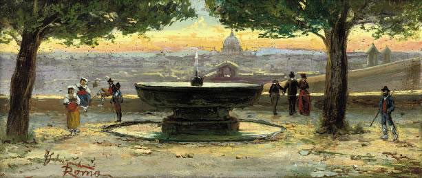 The fountain at the Villa Borghese, Rome