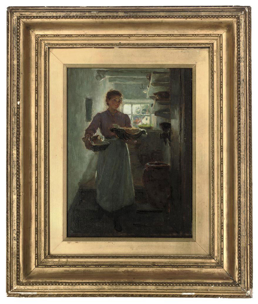 Maid in an interior