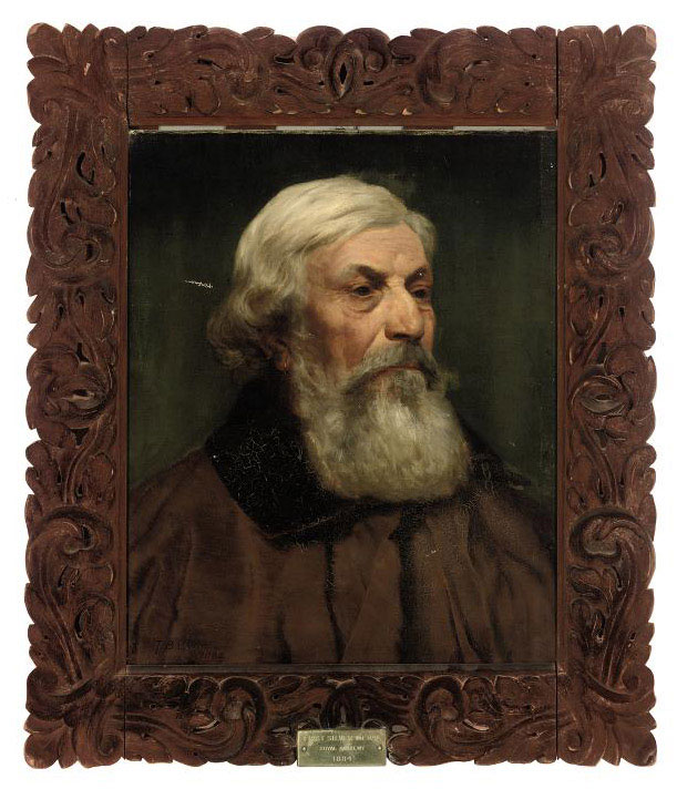 Portrait of an Italian gentleman, bust-length, in a brown coat