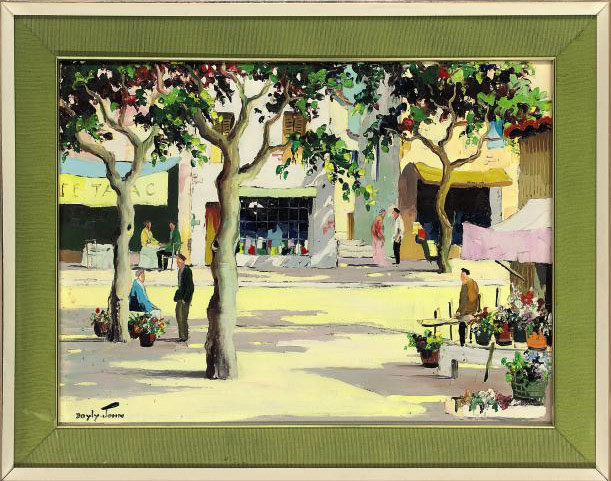 French town square; Along the coast just off St. Tropez; and Promenade on the French Riviera