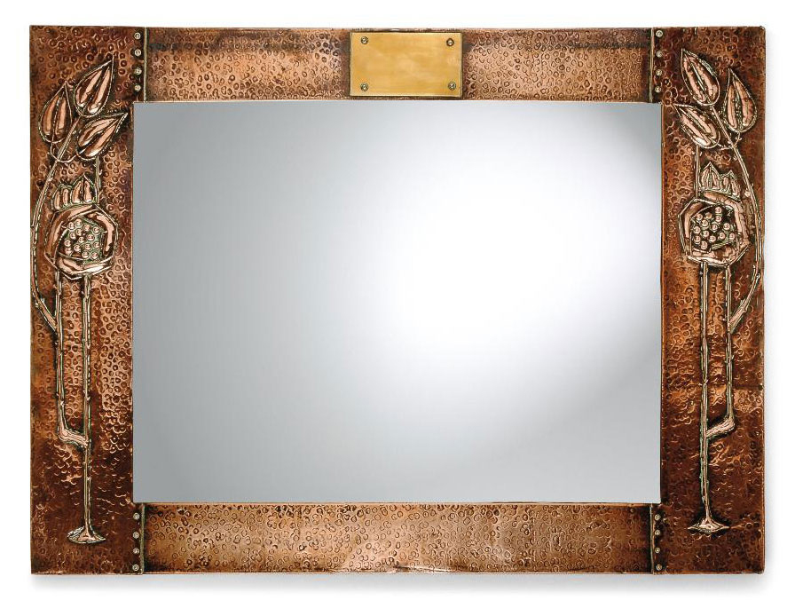Crafts Glasgow School Copper Wall Mirror, Mirror Wall Panels Glasgow