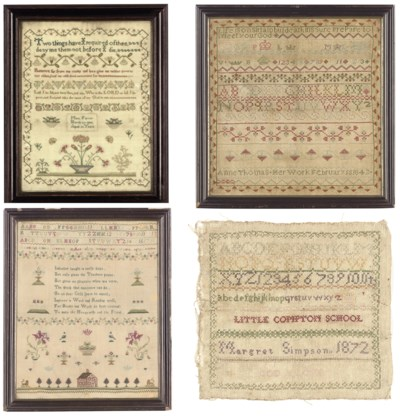 A GROUP OF FOUR SAMPLERS