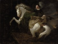 A lady on horseback