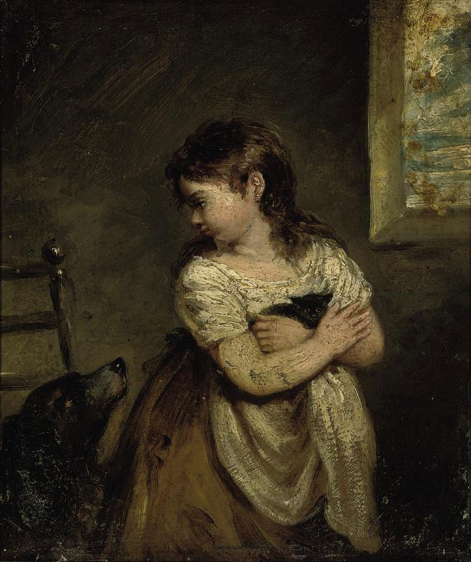 Robert Trewick Bone (British, 1790-1840) , A Girl Holding