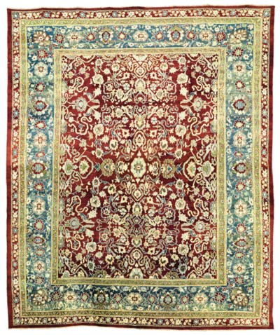 AN AGRA CARPET, NORTH INDIA
