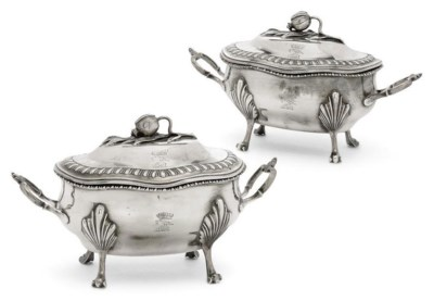 A PAIR OF GEORGE III  SILVER S
