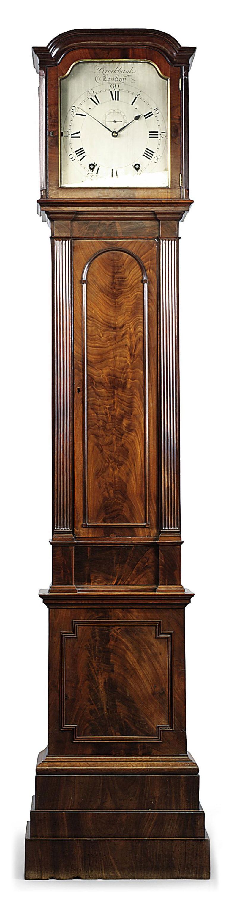 A GEORGE III MAHOGANY STRIKING YEAR-GOING LONGCASE CLOCK