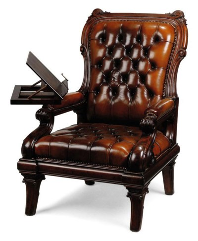 A WILLIAM IV MAHOGANY READING