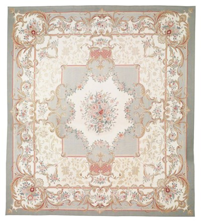 AN AUBUSSON STYLED CARPET, CHI