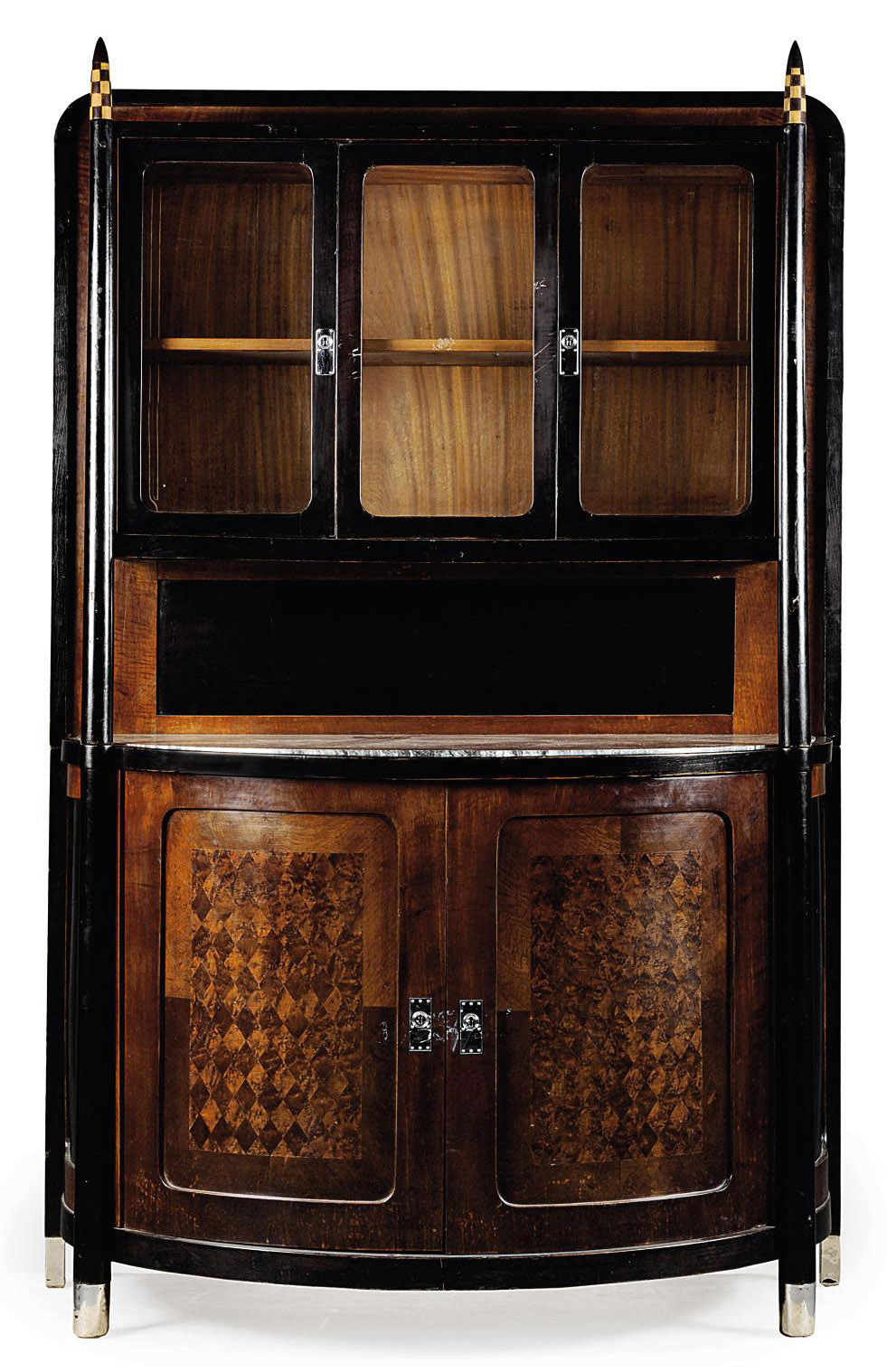 A J. & J. KOHN MAHOGANY CABINET AFTER A DESIGN BY KOLOMAN MOSER