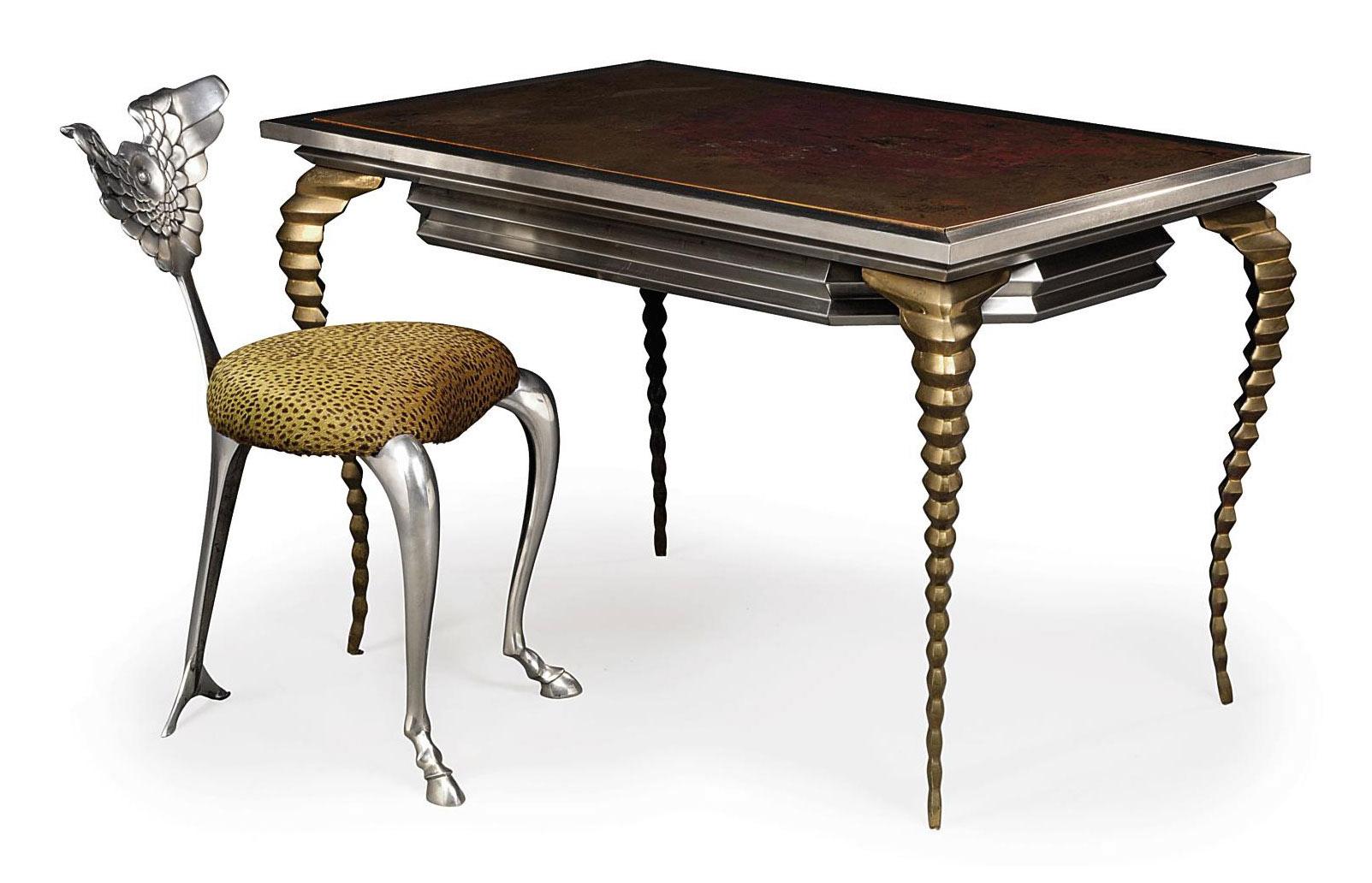 Astounding A Mark Brazier Jones Alligator Desk And Pegasus Chair Andrewgaddart Wooden Chair Designs For Living Room Andrewgaddartcom