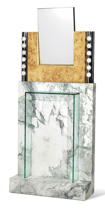 A unique ettore sottsass 39 specchio 39 console executed for Lots specchio
