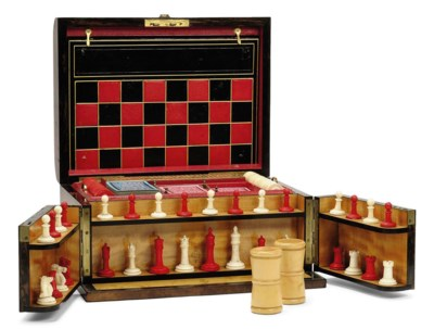 A VICTORIAN BURR WALNUT GAMES