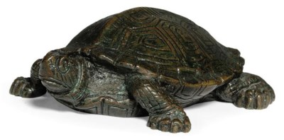 A FRENCH BRONZE MODEL OF A TOR