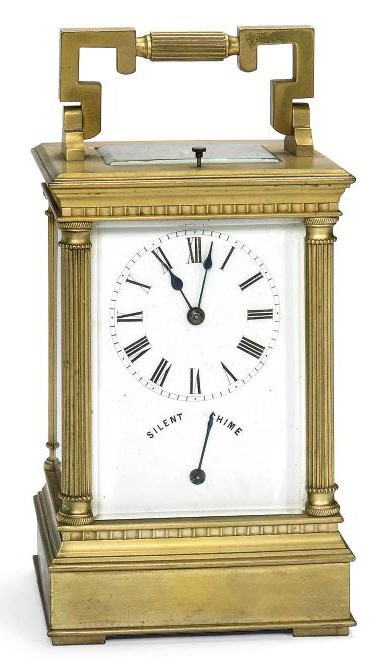 A FRENCH BRASS WESTMINSTER CHI