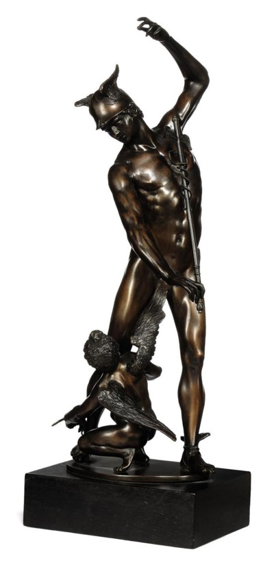 A BRONZE MODEL OF MERCURY AND