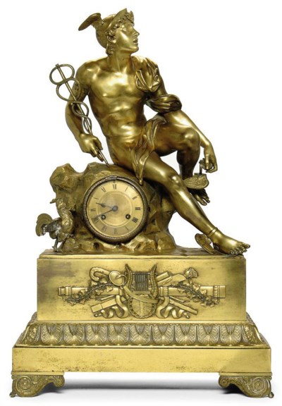 A LARGE FRENCH ORMOLU FIGURAL