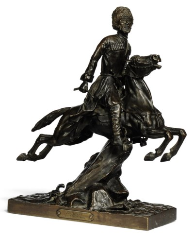 A FRENCH BRONZE MODEL OF A COS
