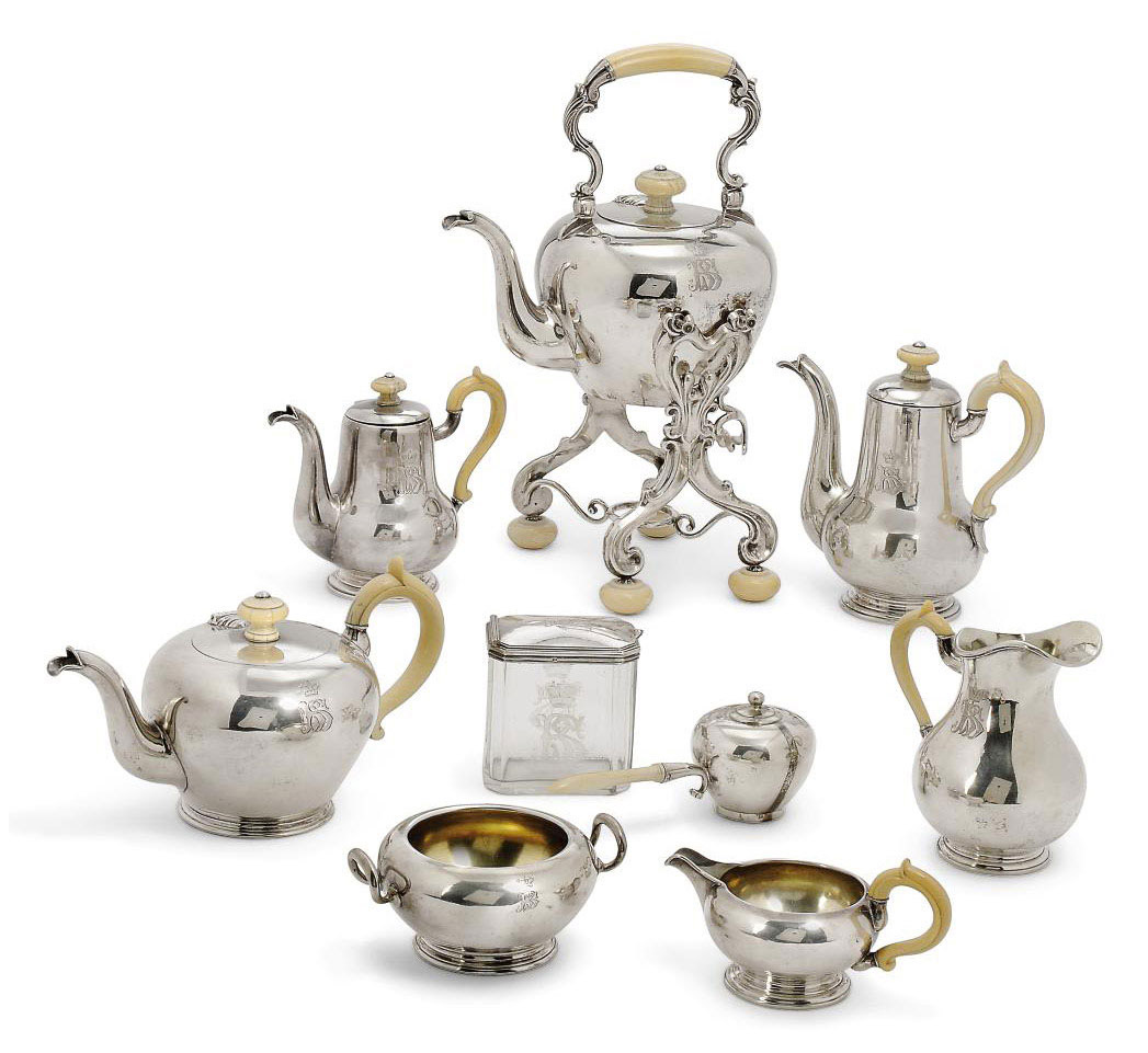 AN AUSTRIAN SILVER TEA AND COFFEE SERVICE