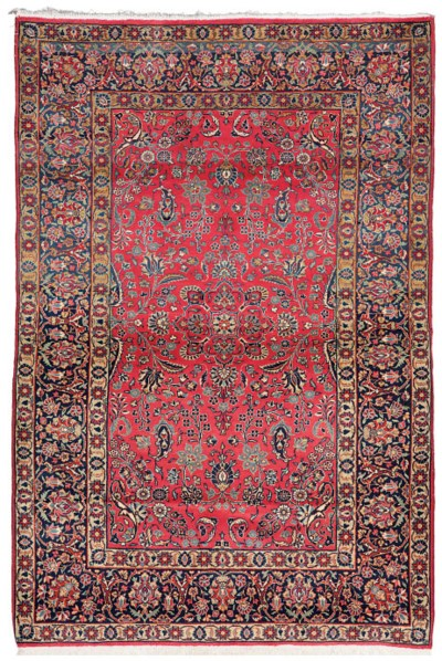 A lot of two fine Sarouk rugs