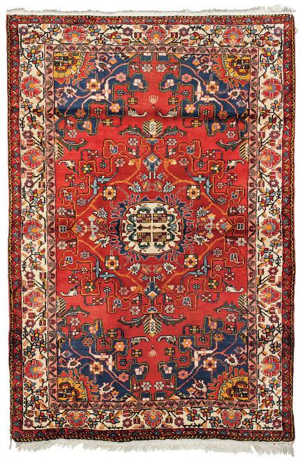 A Tafresh rug & large Ardebil