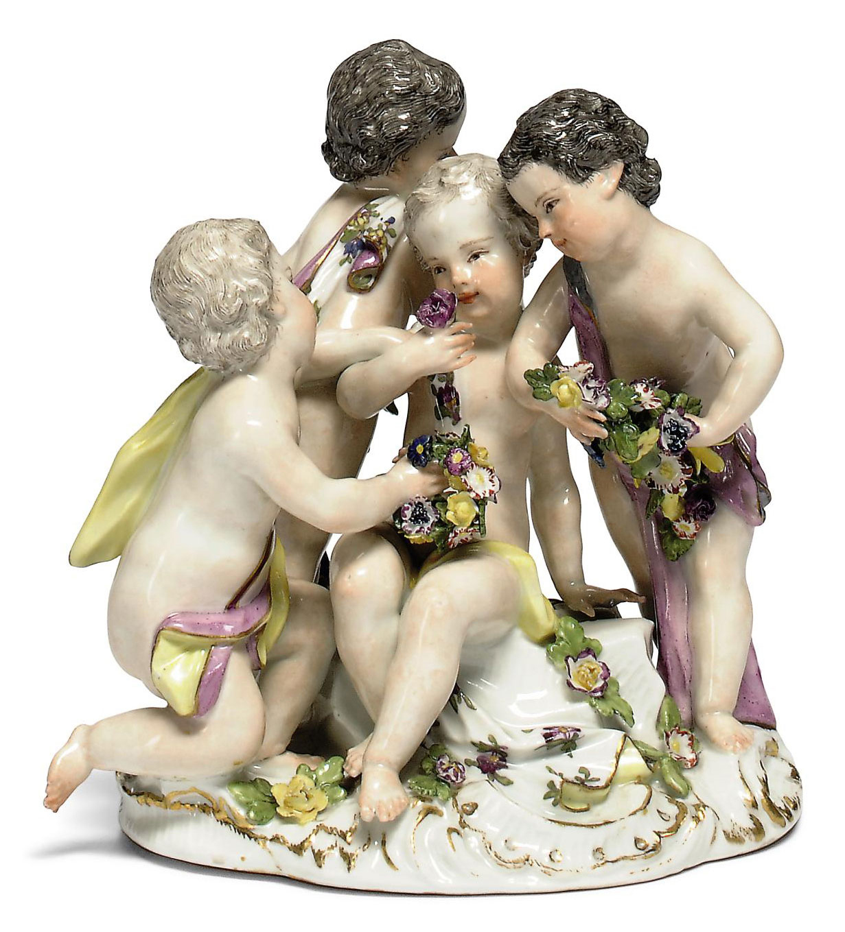 A MEISSEN PORCELAIN GROUP OF F