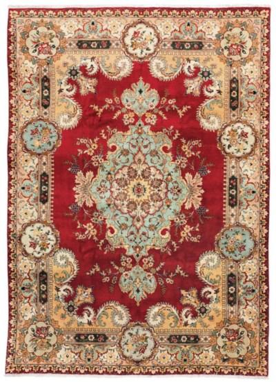 A fine Tabriz carpet