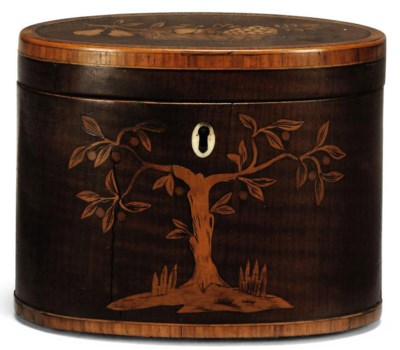 A GEORGE III SYCAMORE AND MARQ
