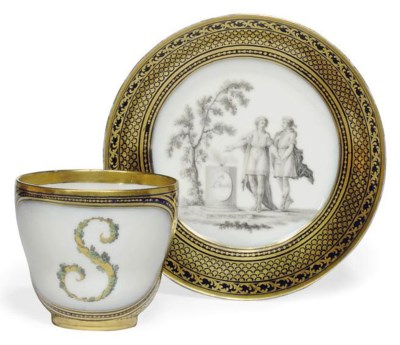 A BERLIN COFFEE-CUP AND SAUCER